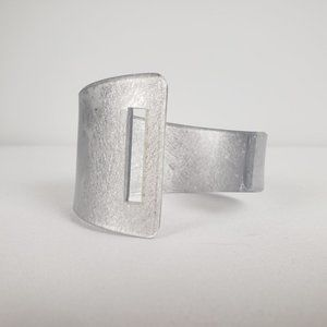 Color By Amber Silver Wide Cuff Bracelet